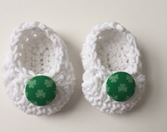 Irish newborn baby booties, Irish baby gift, Irish shower gift,  infant shoes, crochet baby booties, booties for baby, crochet baby shoes
