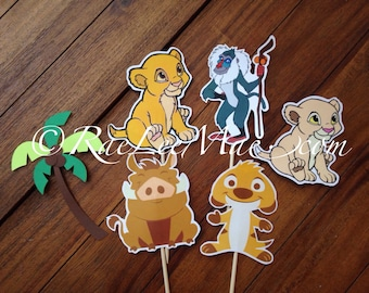 Lion king cut outs/diecuts/ lion king baby shower decorations/ DIY decorations/centerpieces/ Simba, Nala, Timon, Pumba cutouts
