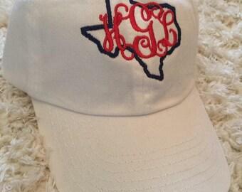 Monogram cap; monogram cap; personalized cap