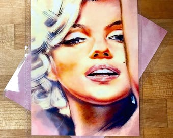 Front and Back Cover Set Marilyn Monroe Glam for use with Erin Condren, Happy Planner or A5 Filofax