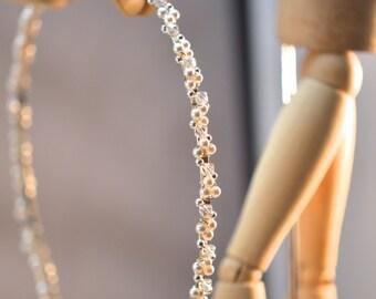 First Communion Headband, Confirmation Headband with Swarovski crystals & Swarovski pearls