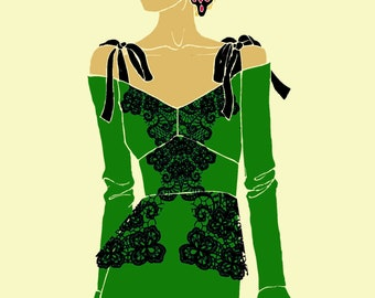 Fashion Illustration - Senorita