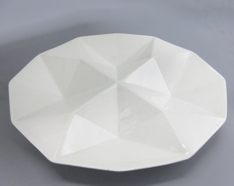 Arabia 1960s Origami Shaped Sectioned Platter Kaj Franck Mid Century