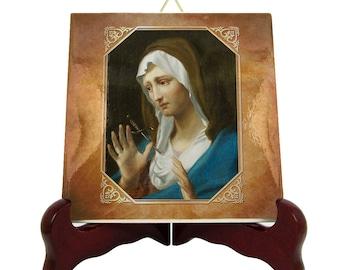 Mater Dolorosa - catholic icon on tile - Virgin Mary icons - Our Lady of Sorrows - catholic gifts - holy art - religious icons