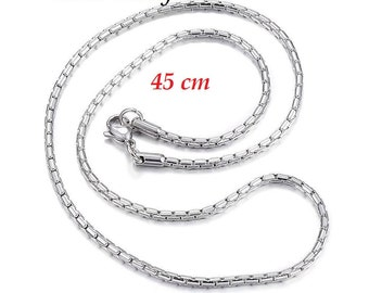 Necklace 45 cm stainless steel chain