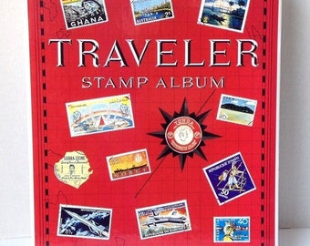 Traveler Stamp Album 1965 With Some Stamps