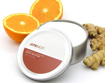 Orange & Ginger Body Butter, 100% Natural with Shea Butter, Coconut Oil and Vitamin E