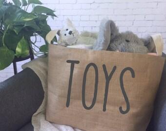kids toy storage basket/ children's toy bin/ nursery storage/ baby shower gift bag/ toy basket/ toy tote/