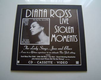 Diana Ross Stolen Moments  Original  Poster in A Custom Made Mount Ready To Frame