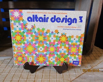 Vintage Adult Coloring Book- 1976 Altair Design 3 Ensor Holiday Pantheon Books Geometric Designs