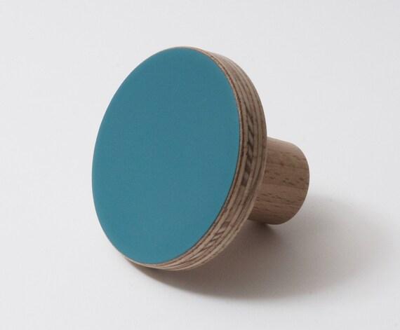 Perilla de madera colorida para armarios puertas de armario