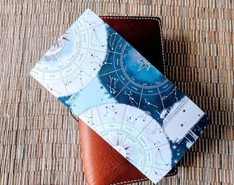 Navy Mauve Constellations Dark Traveler's Notebook Insert | Midori Insert | TN Insert | Fauxdori | Tomoe River | A5 B6 Passport Standard