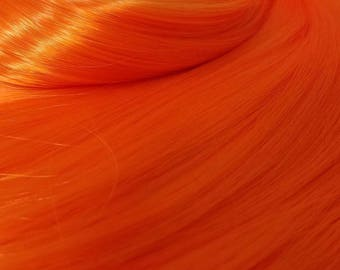 Starfire Bright Fire Orange Nylon Doll Hair Hank for Rerooting Barbie® Monster High® Ever After High® My Little Pony Fashion Royalty Disney