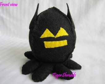 Batman Plushy; Custom Plushie Octopus; Stuffed Plush; Batman; DC Comics; DC Comics Stuffed Animal; Toy; Stuffed Octopus