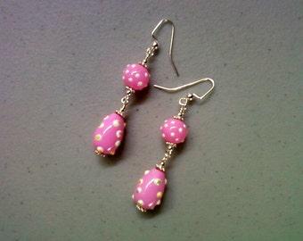 Pink Easter Egg Earrings (1175)