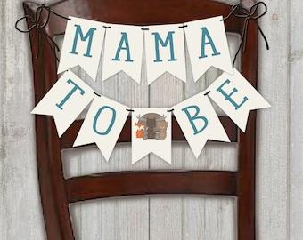 Sweet Baby Baby Shower Banner, Woodland Animal