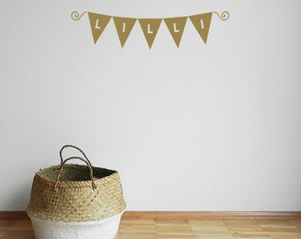Nursery garland decal - Bunting - Garland Decal -  Customised