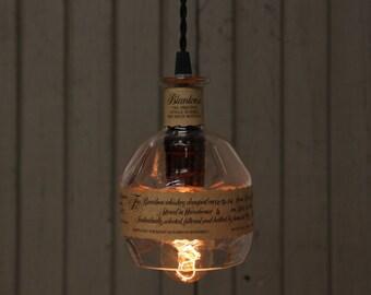 Blanton's Bourbon Bottle Pendant Light / Bar Lighting / Kitchen Light / Whiskey Bottle Gift, Whiskey Bottle Light, Father's Day Gift