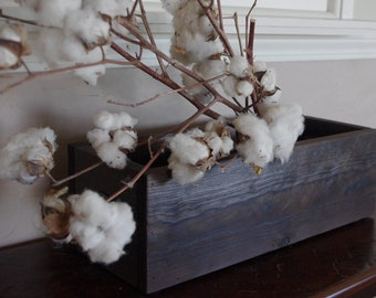 Rustic Wooden Box - Torched Wood Box - Wood Centerpiece - Wedding Centerpiece - Rustic Home Decor - Organization Box - Garden Box - Storage