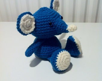 Mouse, Blue Mouse, Handmade Mouse, Soft Toy, Crochet Mouse, Amigurumi Mouse, Amigurumi Toy, Gift,  Present, Toy, Birthday Gift