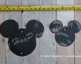 ITH Mouse Head Add-On for Twirligig Spinning Mobile Machine Embroidery Applique In-The-Hoop Design