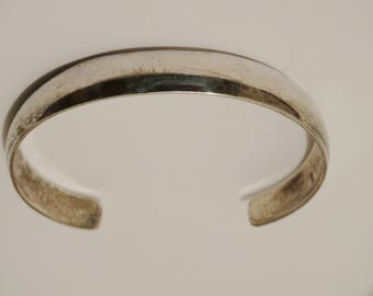 Sterling Silver stamped Cuff Bracelet.