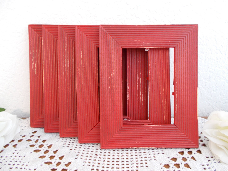 Marco rústico rojo hasta ciclos foto madera Vintage decoración