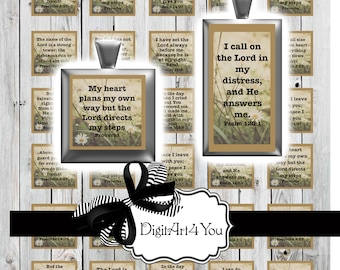High Resolutiuon Digital collage of Verse from Proverbs. Bible, Religious, Old Testament, New Testament Biblical Quotes.Inchies and Dominoes