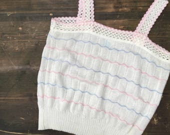 1980s Knitted Vest Top