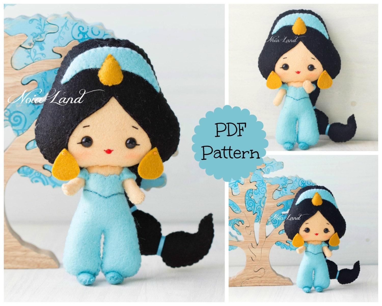 Jasmine Pdf Pattern Felt Doll  # Muebles Jasmine