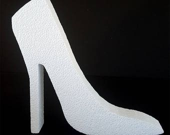 Styrofoam High Heel Shoe Cut Out,centerpiece,shopping,shoes,heels,styrofoam shapes,shoe cut outs,styrofoam,stiletto heel cut out
