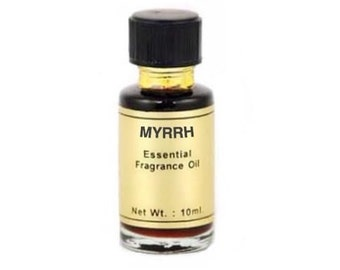 Myrrh Oil -10ml, Essential fragrance oil, Scent magick, Candle dressing, Annointing oil, Aromatherapy, Spiritual awareness, Spicy aroma