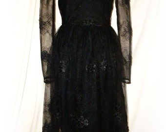 Dark Romance handmade Ceremony Dress size XS