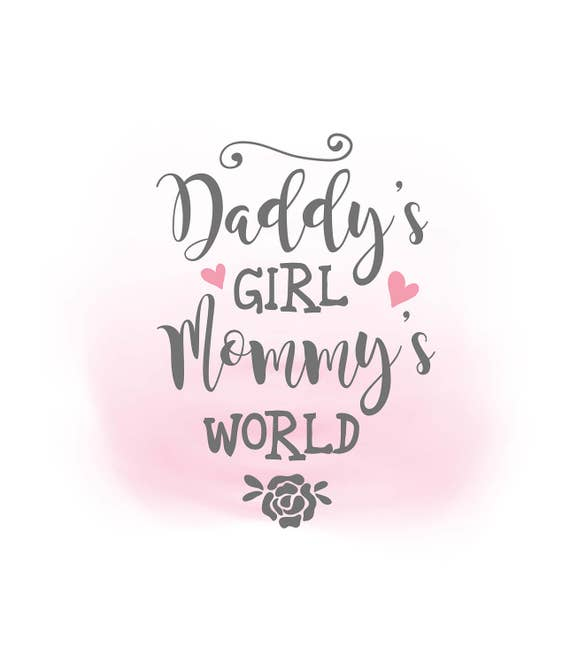 Quotes For A Baby Girl: Daddys Girl Mommys World SVG Clipart Baby Girl Quote Art