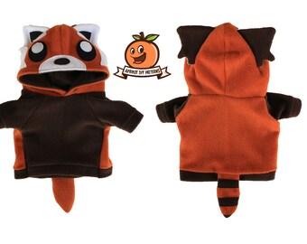 Red Panda Dog Hoodie Costume MED - XL Pdf Pattern and full tutorial