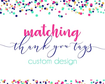 Matching Thank You Tags