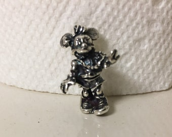 Vintage Large Sterling Silver Disney Minnie Mouse Charm