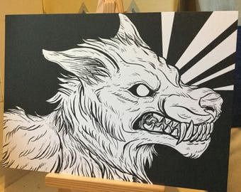 Werewoof A5 Pearlescent Print