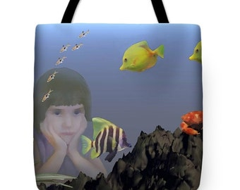 Wish I Could Swim Tote Bag