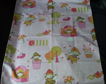 "fabric for upholstery ""kiddies designs"" on pink 65 cm x 75 cm"