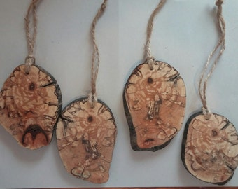 Spalted Maple Wood Slice Ornament