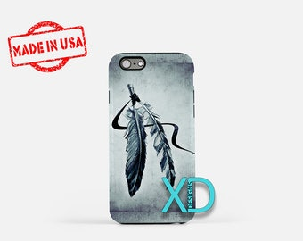 Feather iPhone Case, Native American iPhone Case, Feather iPhone 8 Case, iPhone 6s Case, iPhone 7 Case, Phone Case, iPhone X Case, SE Case