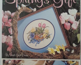 Spring's Gift cross-stitch booklet