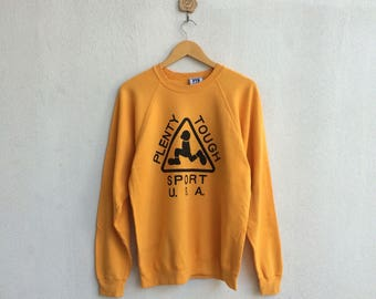 Vintage 90's Plenty Tough Sport U.S.A Sweatshirt Big Logo Spellout Nice Design