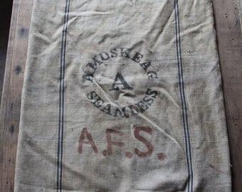 Amoskeag Seamless canvas seed sack