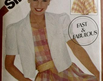 Misses Dress Sewing Pattern - Misses Sundress Sewing Pattern -Pull over Dress - Misses Jacket Sewing Pattern - New - Uncut - Size 14, 16, 18