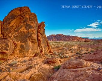 Nevada Desert Scenery 2018 Calendar.  11 x 8.5