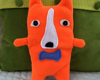 Chester ~ The Corgi Bow Tie Bummlie ~ Stuffing Free Dog Toy ~ Ready To Ship Today - Blue Bow Tie