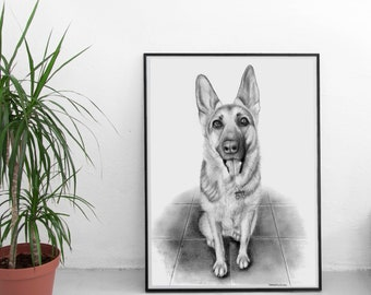 Custom Pet Portrait - Made to Order - Original Drawings, Graphite/Charcoal - Dog, Cat, Horse, Bunny - Dog Lover Art - Personalized Gift
