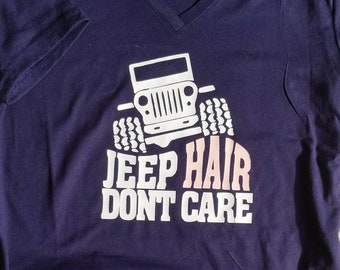 Jeep Hair Don't Care custom women's tee size small